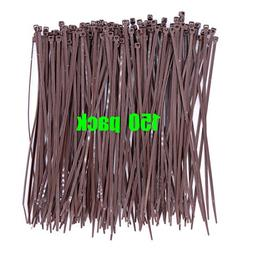 Dark Brown 8 Inch Cable Ties Fastener for Fence in Bulk 150