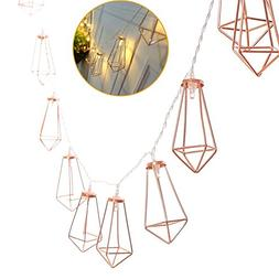 Agyvvt 5Ft Diamond Geometric String Lights 10 LED Fairy Ligh