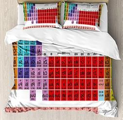 WAZZIT 4 Piece Duvet Cover Set King Periodic Table Kids Chil