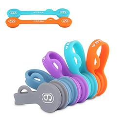 ABZON Magnetic Cable Clips Earphone Wrap Cord Organizer Soft