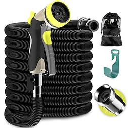 Expandable Garden Hose - Water Hose with Solid Brass Fitting