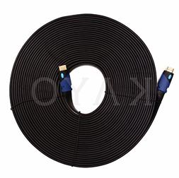 FLAT HDMI Cable- 50 FT,High Speed HDMI Cable  Flat Wire- CL3