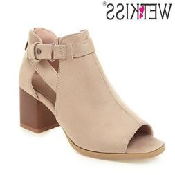 WETKISS Flock Ankle Boots Women Cross <font><b>Tied</b></fon