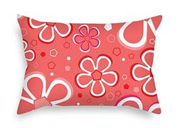 Flower Pillow Covers 16 X 24 Inches / 40 By 60 Cm Gift Or De