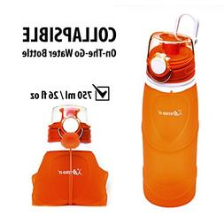 Bend-It Collapsible Water Bottle Silicone for Kids, Adults,