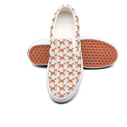 Lalige Fox With Bow Tie Womens Cute Canvas Slip-on Skate Sho