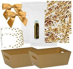 Pursito Gift Basket Making Kit Includes: Metallic Gold Marke