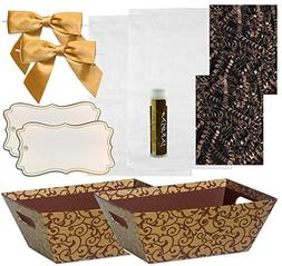 Pursito Gift Basket Making Kit Includes: Chocolate Scroll Ma