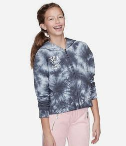 Justice Girls Size 7  Tie Dye Zip Up Hoodie New with Tags