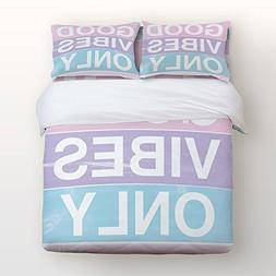 Good Vibes Only Bedding 4 Piece Duvet Cover Set Ice Cream Co