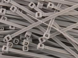 6 Inch Gray Miniature Nylon Cable Tie - 100 Pack