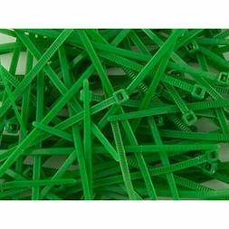 4 Inch Green Miniature Nylon Cable Tie - 500 Pack