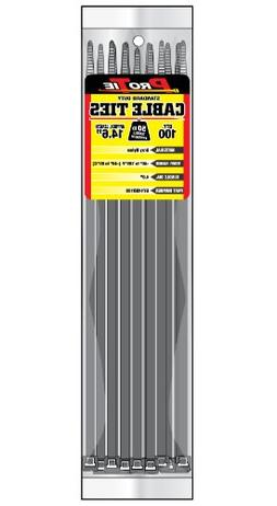 Pro Tie GY14SD100 14.6-Inch Gray Standard Duty Color Cable T