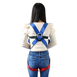 Kids' Full Body Harness, Youth Safety Comfort Zipline Climbi