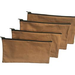 Heavy Duty 16 oz. Canvas Tool Bags with Metal Zippers Multi