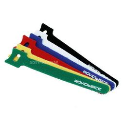 Hook & Loop Fastening Cable Ties 6inch, 60pcs/Pack - 6 Color