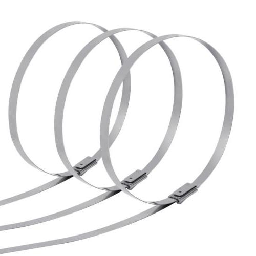 "1000Pcs 12"" 16"" Stainless Steel Zip Tie Strap Strong"