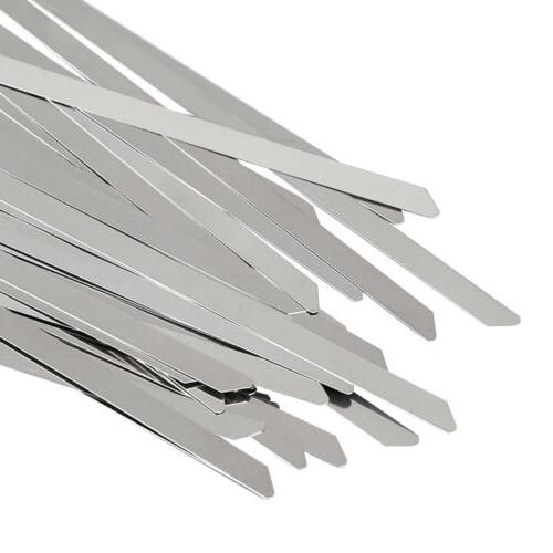 """1000Pcs 16"""" 18"""" Stainless Steel Cable Zip Tie Self Strap Strong"""