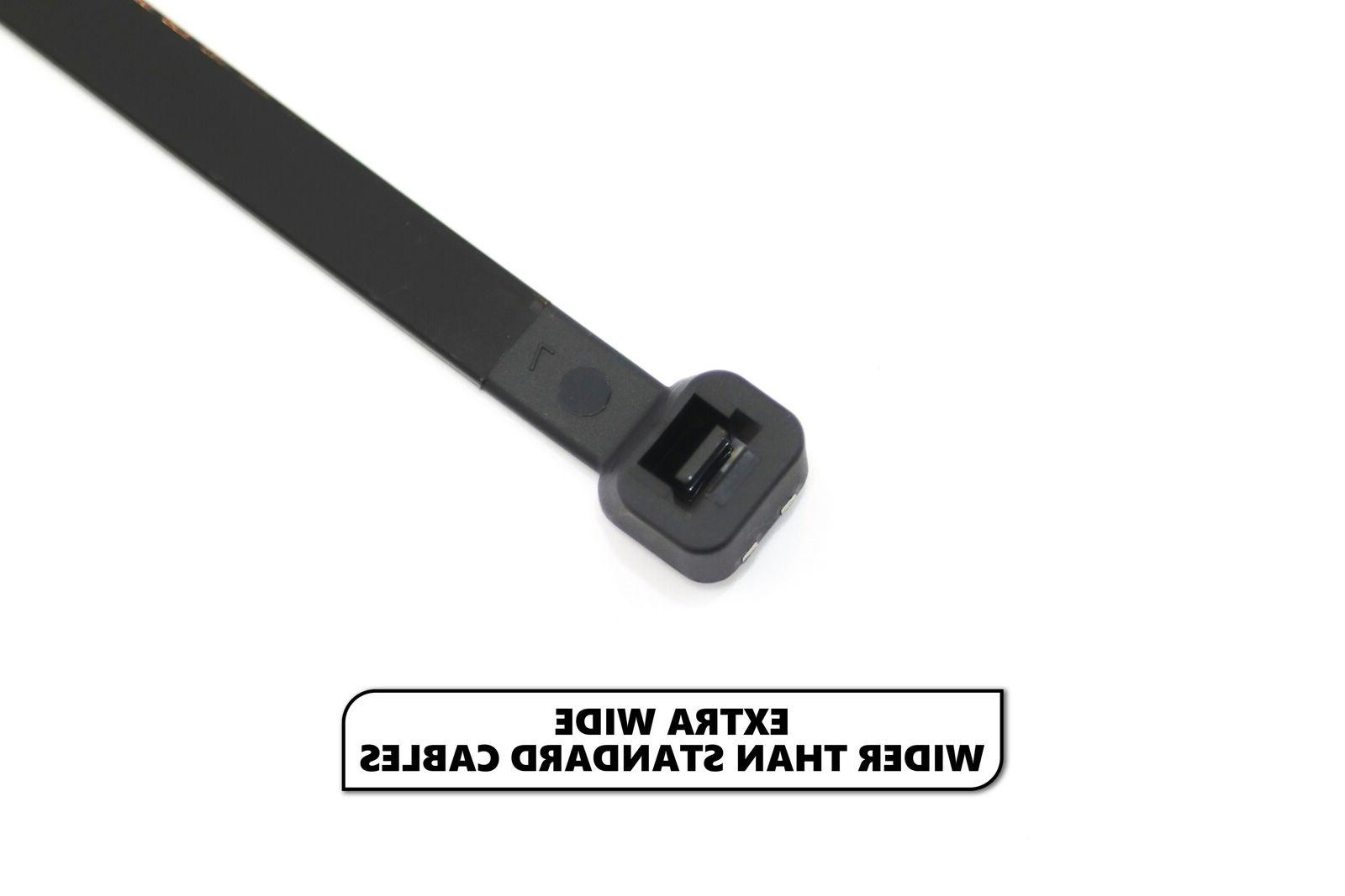 100 Extreme Cable Ties Nylon Wide