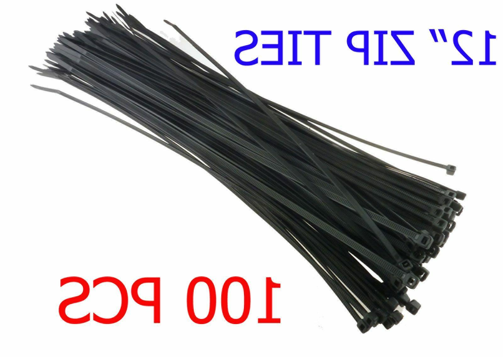 """100 PCS Pack 12"""" inch Network Cable Cord Wire Tie Strap 60 L"""