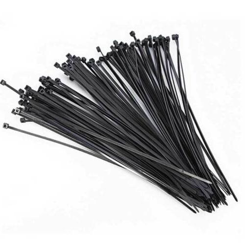 """100* 20"""" inch Black White Network Cable Cord Wire Zip Tie St"""