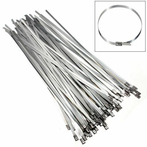 Pro 4.6x300mm Stainless Steel Exhaust Wrap Coated Locking Wi