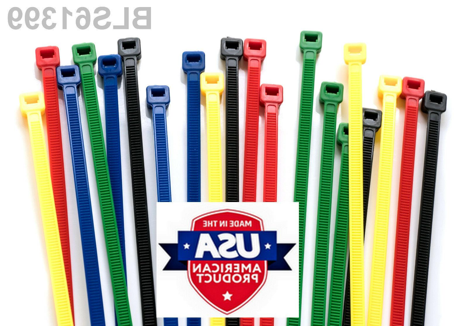 100 Made TOUGH TIES inch 40lb Nylon Tie Wraps Cable Zip Green