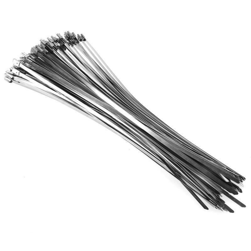 100PCS Stainless Header Cable Zip Straps