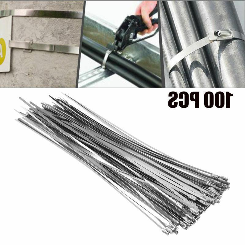 100pcs 12 stainless steel header exhaust wrap