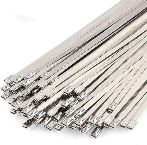 100PCs 304 Stainless Steel Cable Zip Self Wrap