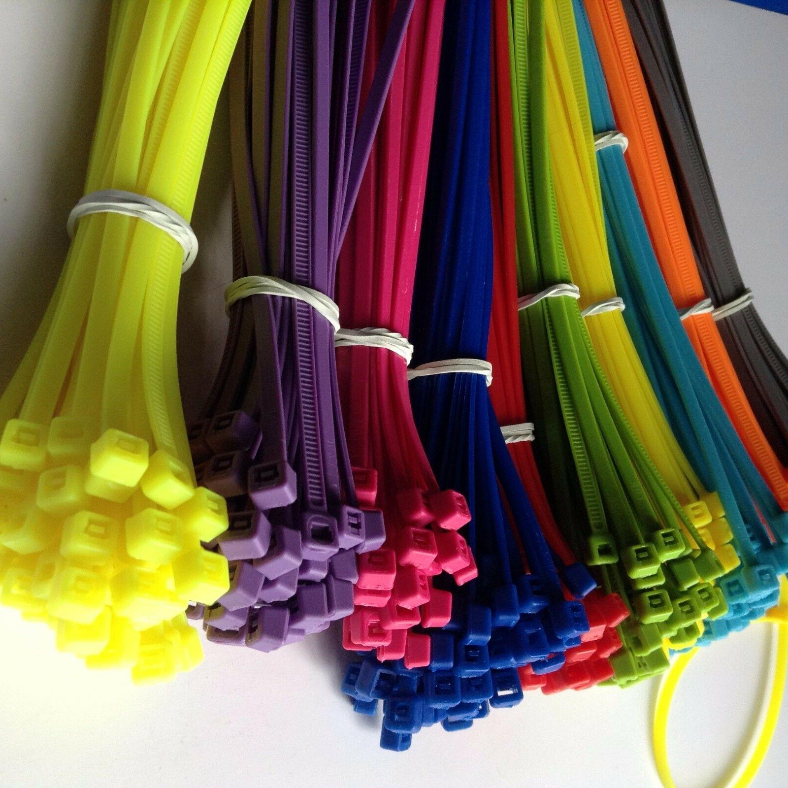 "11"" MULTI Cable Cord Wire Tie Strap 50,100,500 pcs"