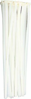 """15"""" White 120lb 100 Pack Zip Ties Choose Size/Color By Bolt"""