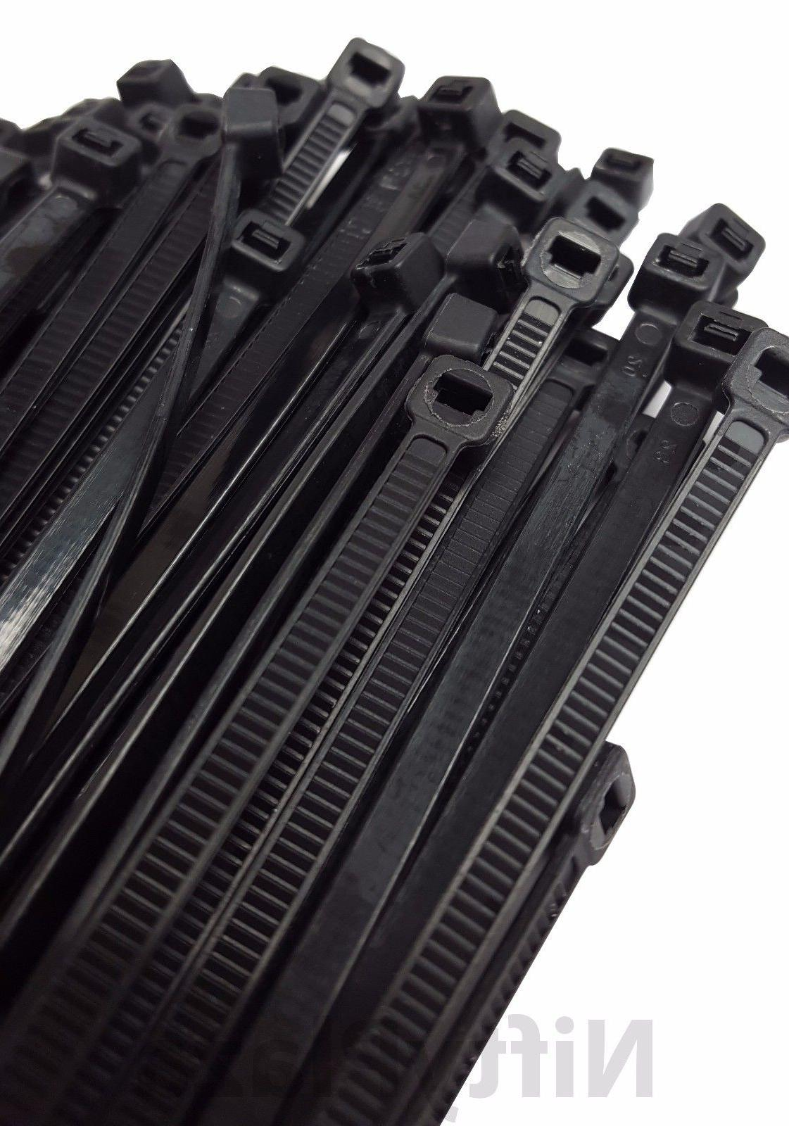NiftyPlaza 14 Inch Cable Ties - 100 Pack 120 lbs Heavy Duty