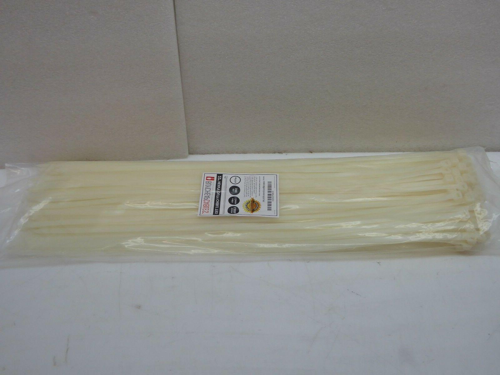 22 heavy duty zip ties cable white