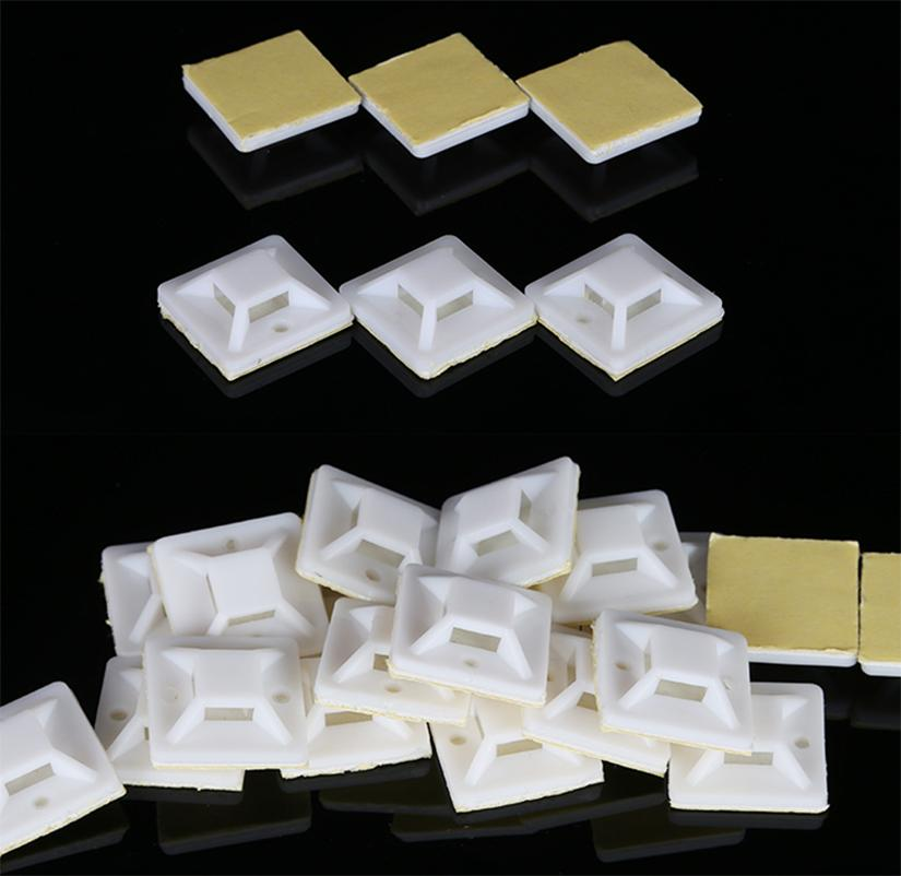 25*25mm Square Self-adhesive cable <font><b>tie</b></font> nylon base newly released bundle holder