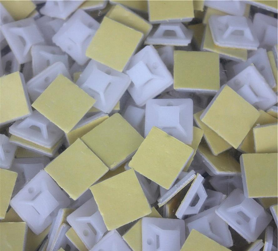 25*25mm Square Self-adhesive cable <font><b>mounts</b></font> nylon base newly released holder