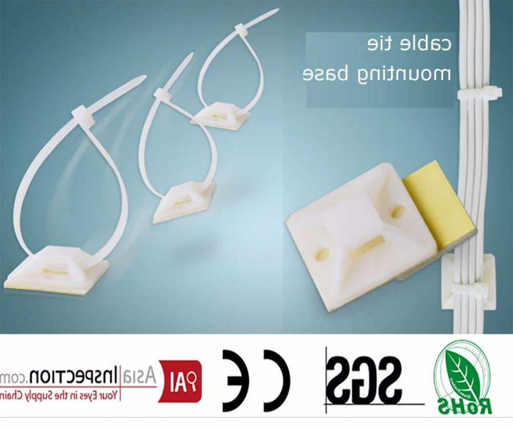 25 25mm square self adhesive plastic cable