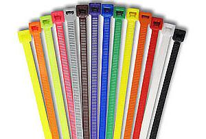 """4"""" Nylon Natural Cable Zip Ties 18 lbs Strength-100 pack - Ships"""