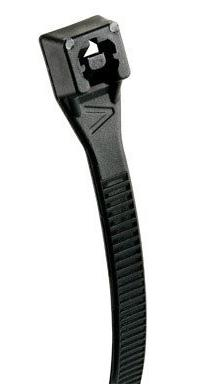 45-308UVB 8-Inch Black Heavy Duty UV Resistant Cable Ties, 1