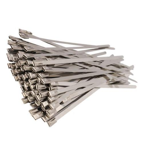 Baomain 100pcs Stainless Wrap Coated Locking Cable Ties