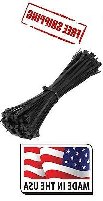 """50 Pounds 100 Piece 14"""" Long BLACK UV Cable Zip Ties Ty Wrap"""