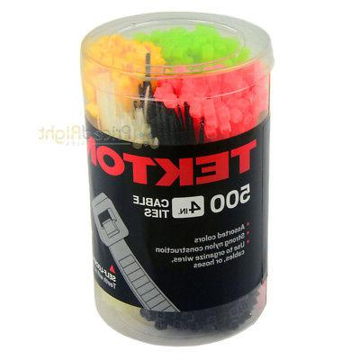 500 In Cable Pack Assorted Colors Self Locking Nylon