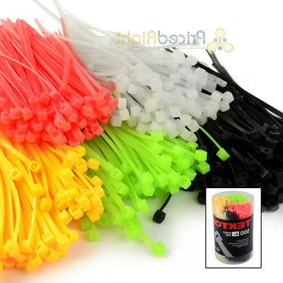 500 pack 4 in cable ties zip