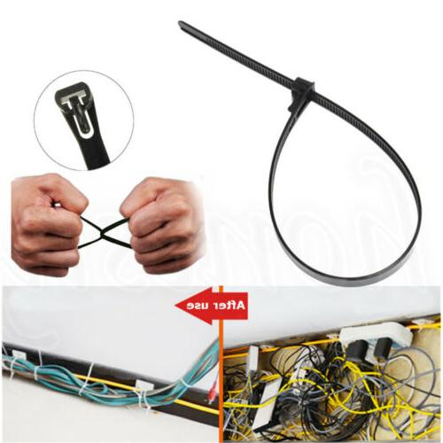 8 Inch. 25 Pk. 50 Tensile Strength Wire // Cord Management Industrial and Household Use UV Resistant Black Nylon Zip Tie Gardner Bender 45-308PMUVB Push-Mount Cable Tie