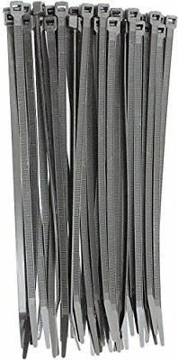 """8"""" Zip Ties 1000 Pack 40lb Strength Black Nylon Cable Wire T"""