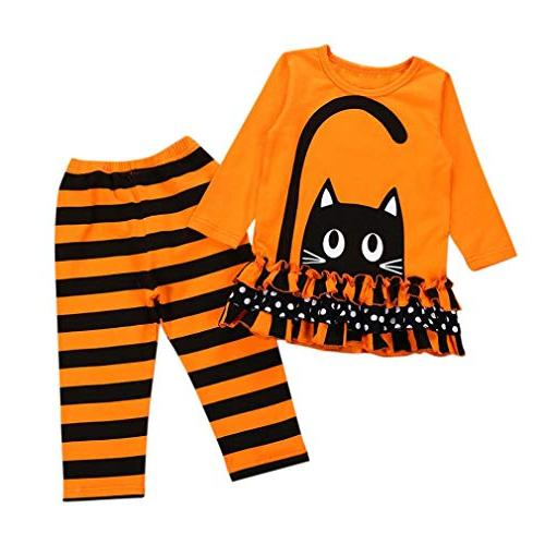 Baby Halloween Outfits,Leegor Toddler Child Girls Cat Dresse