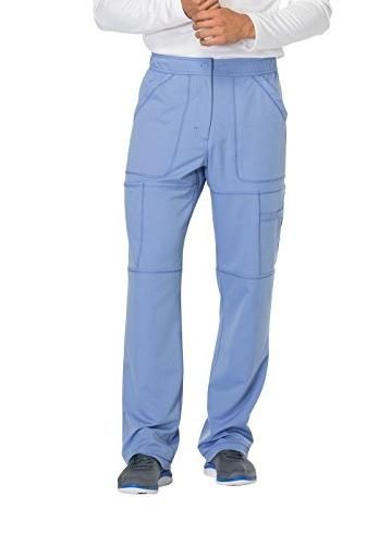5b98ffa8b97 Dickies Dynamix by Men's Zip Fly Cargo Scrub Pant Small Teal