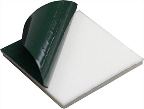 Large, Tie Adhesive-Backed Mounts 100 by Nova UV White Bases: 1.1 Point for Use