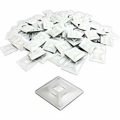 Large, Premium Zip Tie Adhesive-Backed Mounts 100 Pack by No