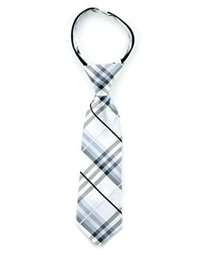 Littlest Prince Couture Shadow Plaid Infant Zipper Tie 0-9 M